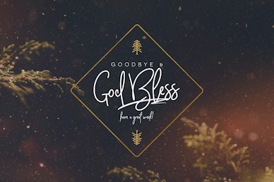 Very Merry Christmas Goodbye Church Motion Graphic