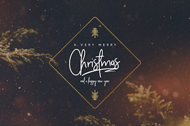 Very Merry Christmas Church Motion Graphic