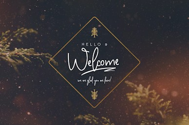 Very Merry Christmas Welcome Motion Graphic