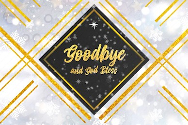 Christmas Eve Celebrate Together Goodbye Church Motion Graphic