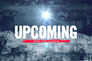 Good News Upcoming Events Church Motion Graphic