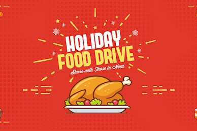Holiday Food Drive Share Church Motion Graphic