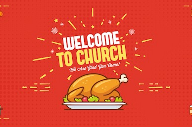 Holiday Food Drive Welcome Church Motion Graphic