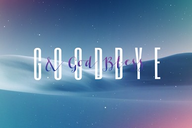 Peace On Earth Goodbye Church Motion Graphic