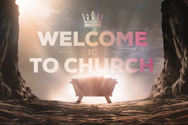Word Became Flesh Welcome Church Motion Graphic