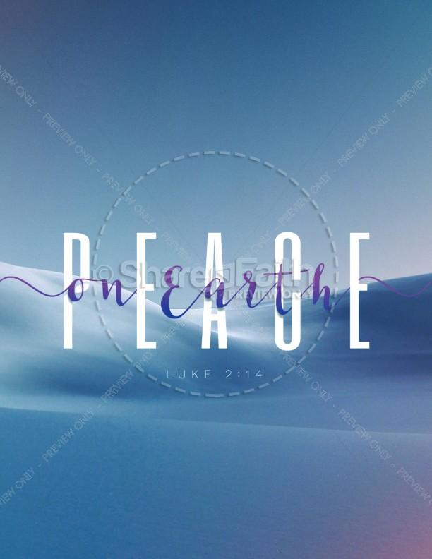 Peace On Earth Church Flyer