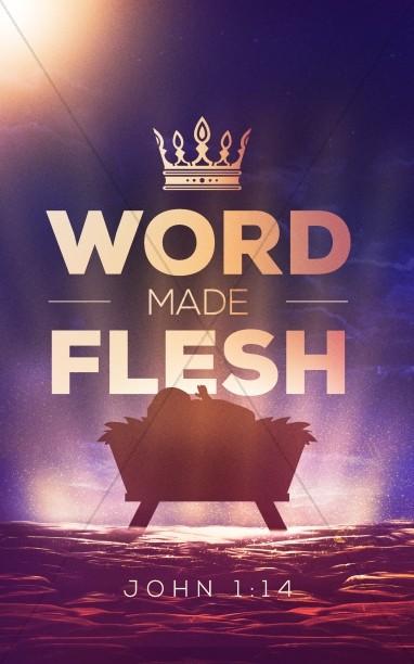 Word Made Flesh Church Bifold Bulletin