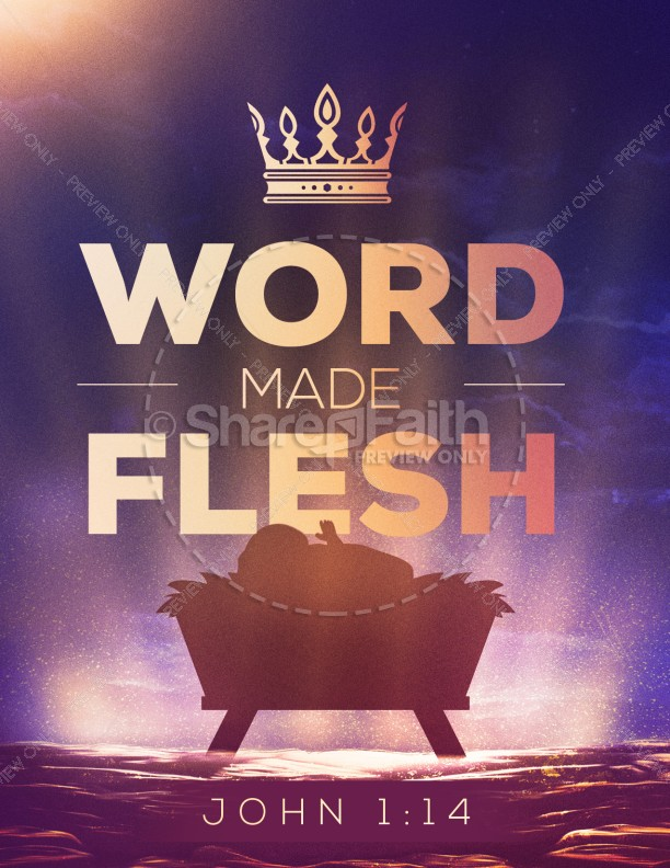 Word Made Flesh Church Flyer