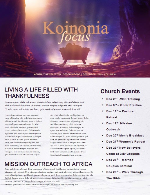 Word Made Flesh Church Newsletter