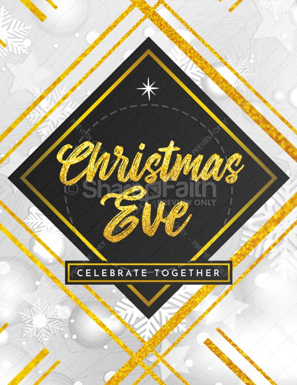 Christmas Eve Celebrate Together Church Flyer