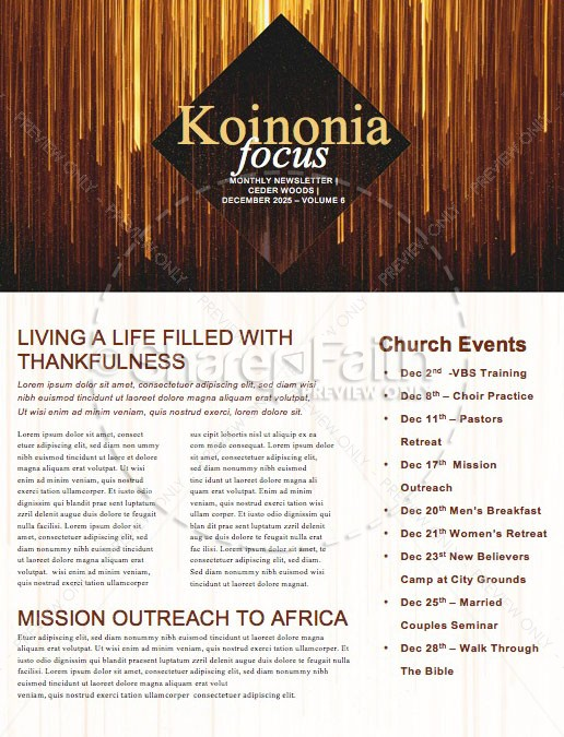 Happy New Year Church Newsletter