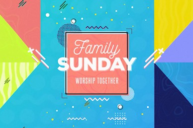 Family Sunday Title Church Motion Graphic