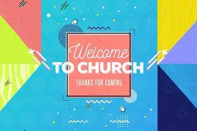 Family Sunday Welcome Church Motion Graphic