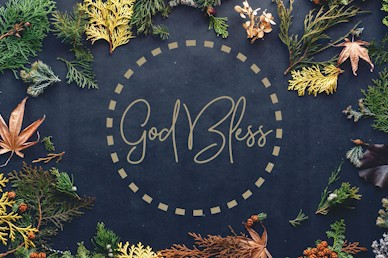 Celebrate Thanksgiving Together God Bless Church Motion Graphic