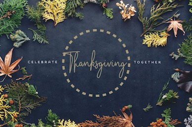 Celebrate Thanksgiving Together Church Motion Graphic