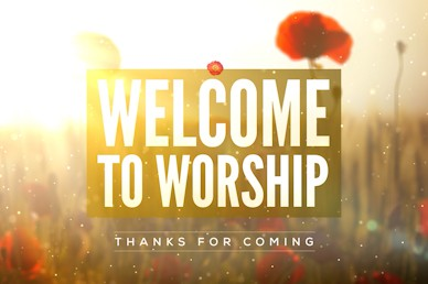 Lest We Forget Welcome Church Motion Graphic