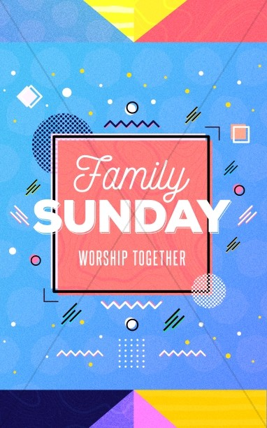 Family Sunday Church Bifold Bulletin