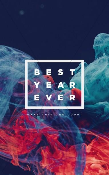Best Year Ever Church Bifold Bulletin