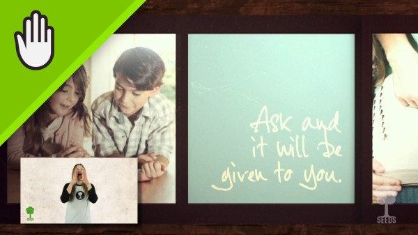 Ask Seek Knock Worship Video for Kids Hand Motions
