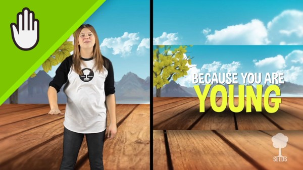 Young Worship Video for Kids Hand Motions Split Screen