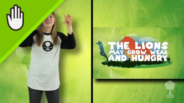 The Good Song Worship Video for Kids Hand Motions Split Screen