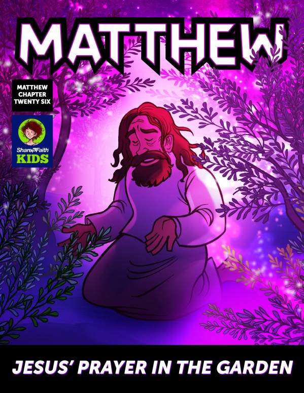 Matthew 26 Prayer in the Garden Digital Comic