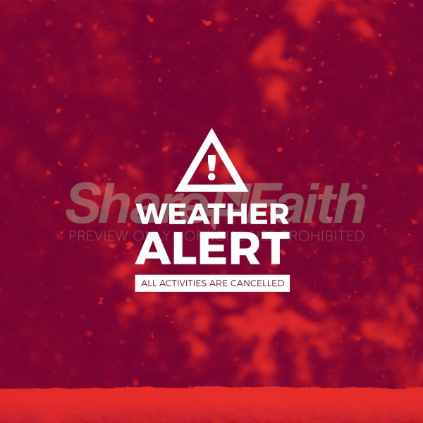 Weather Alert Social Media Graphic