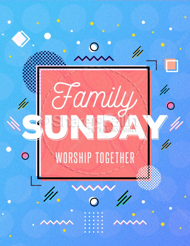 Family Sunday Church Flyer