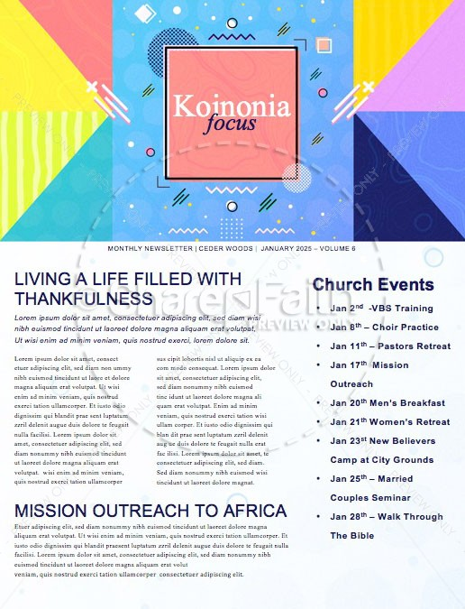 Family Sunday Church Newsletter