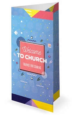 Family Sunday Church Trifold Bulletin