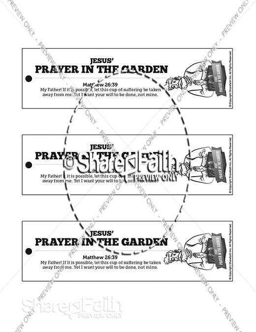 Matthew 26 Prayer in the Garden Bible Bookmarks