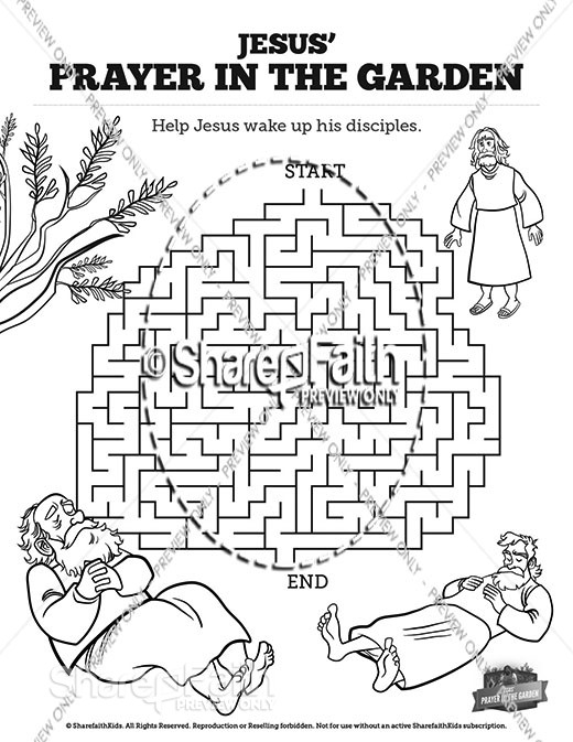 Matthew 26 Prayer in the Garden Bible Mazes