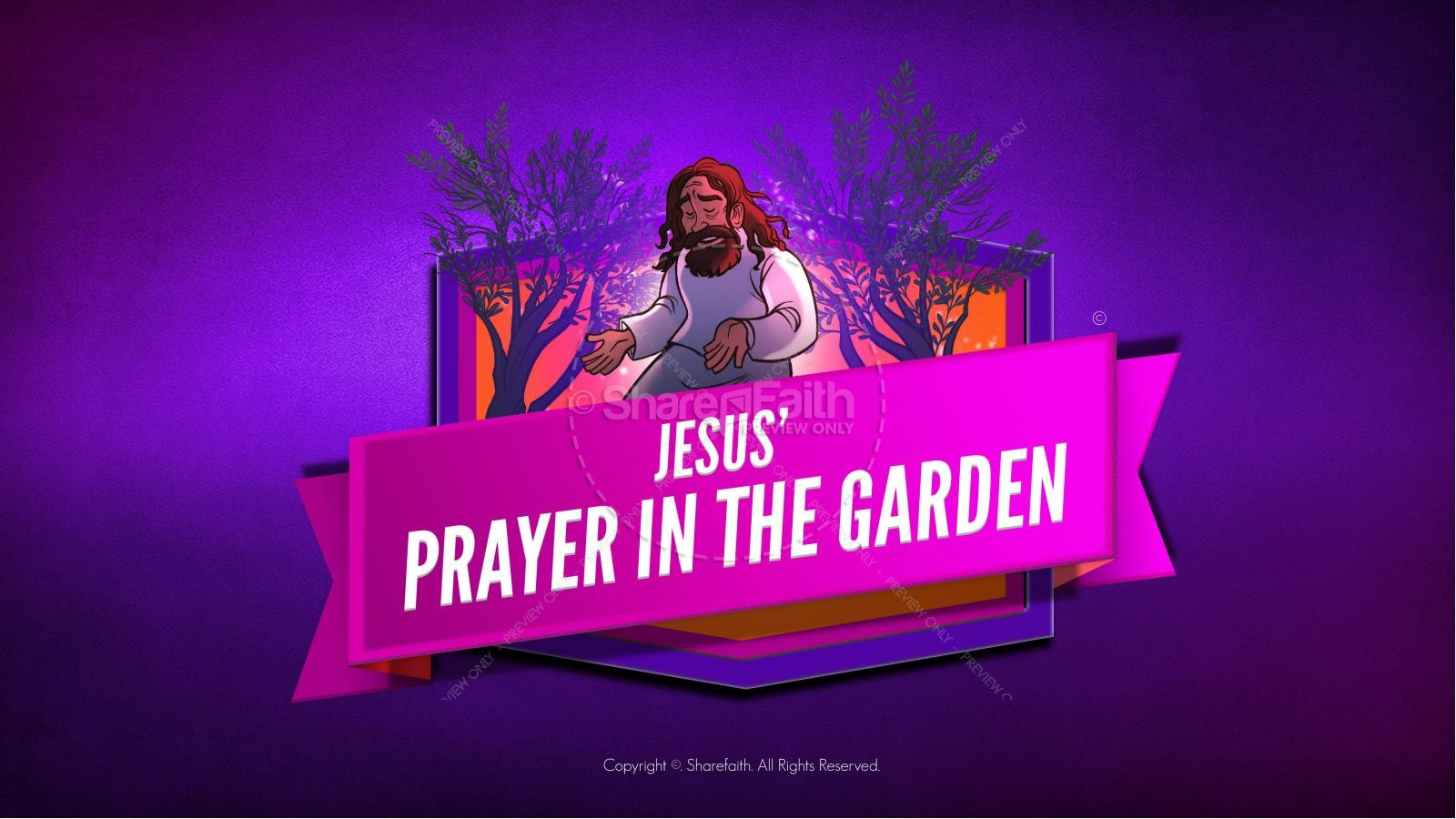 Matthew 26 Prayer in the Garden Kids Bible Story | slide 1