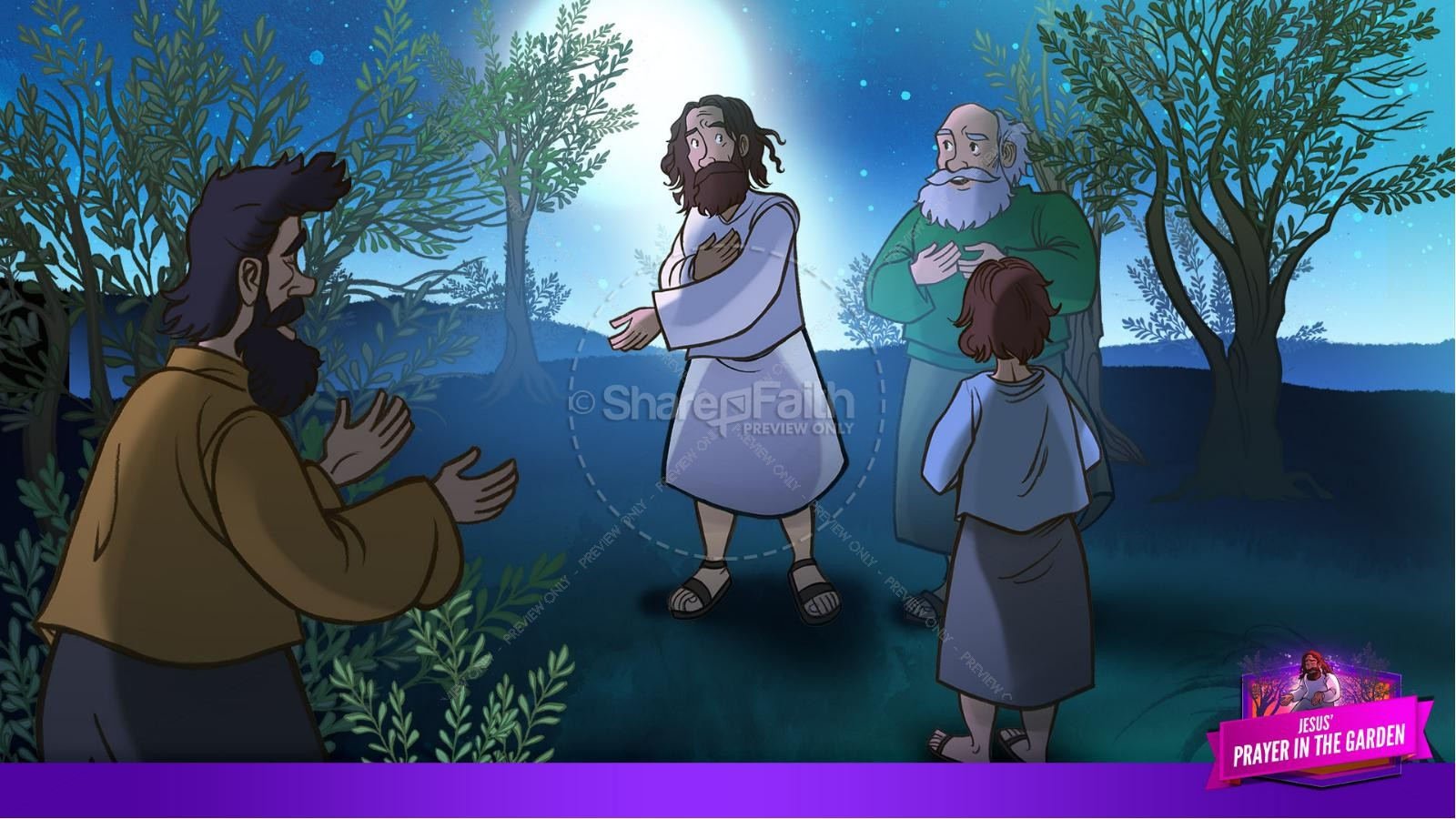 Matthew 26 Prayer in the Garden Kids Bible Story | slide 14