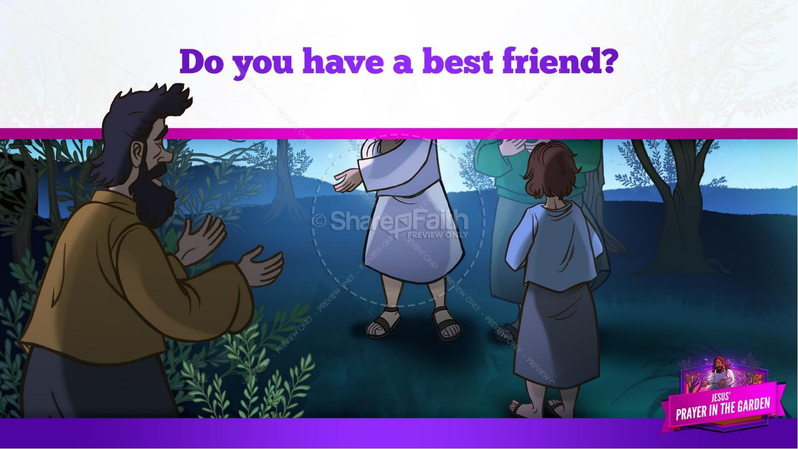 Matthew 26 Prayer in the Garden Kids Bible Story | slide 17
