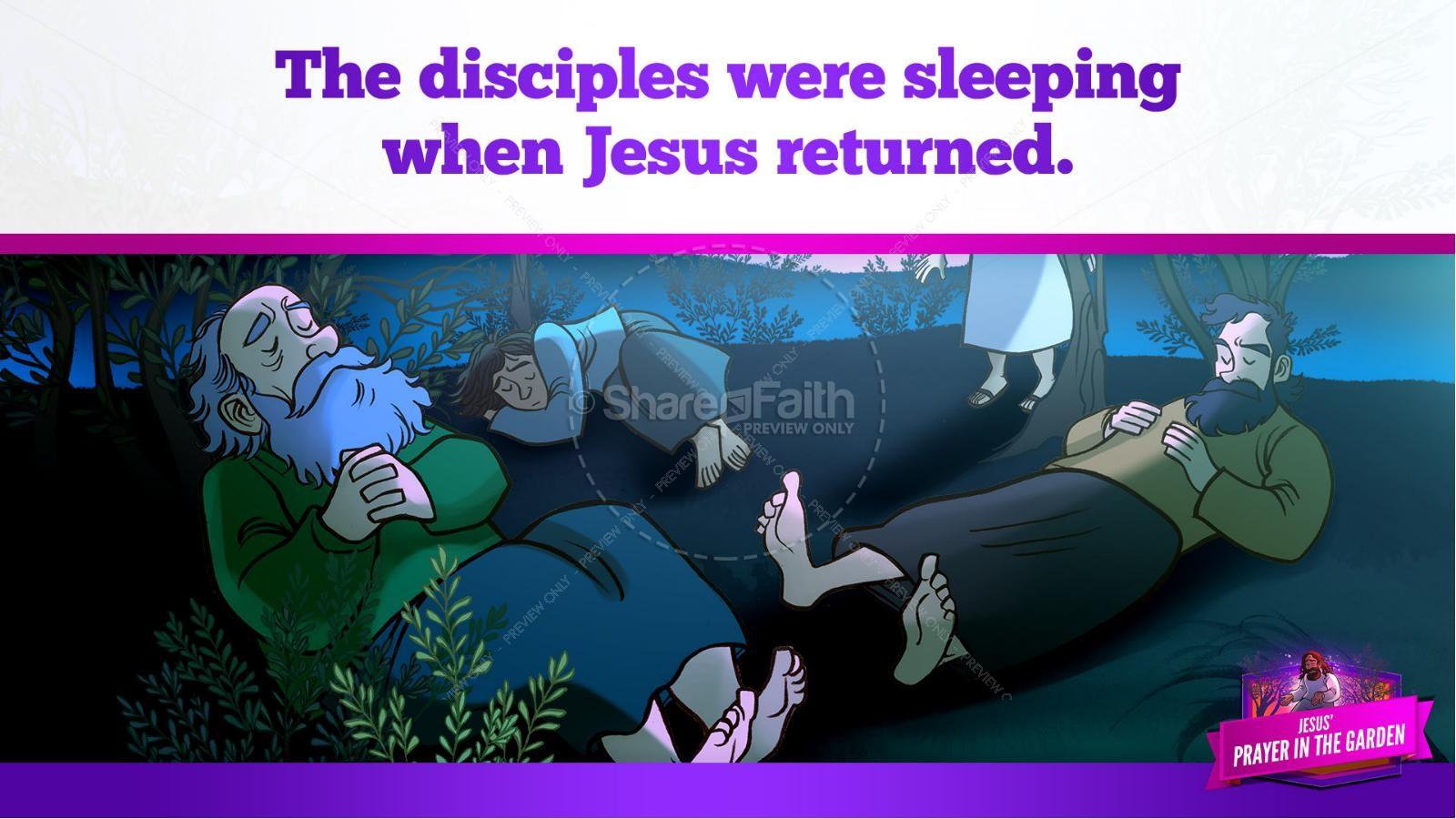 Matthew 26 Prayer in the Garden Kids Bible Story | slide 24