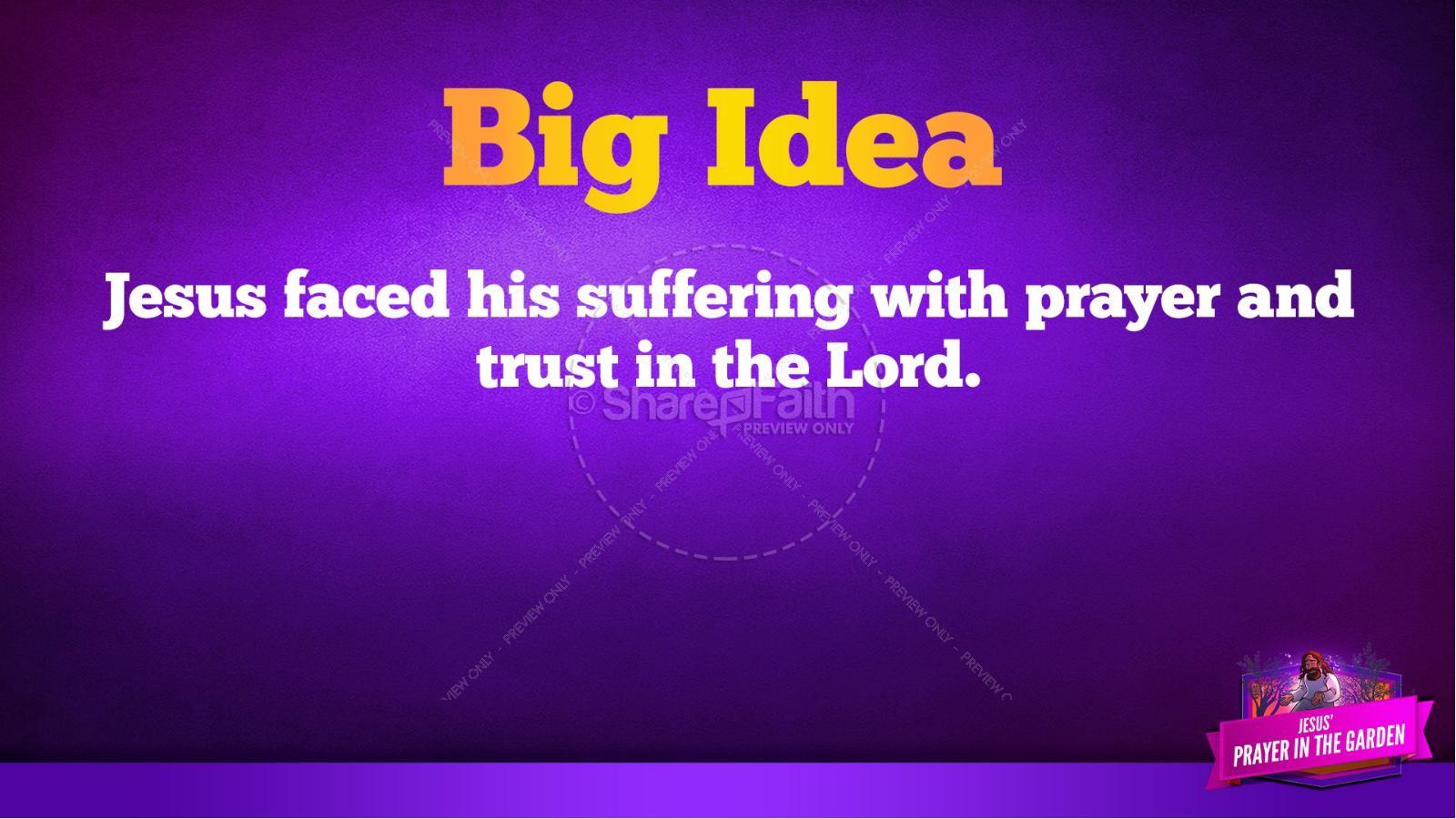 Matthew 26 Prayer in the Garden Kids Bible Story | slide 38