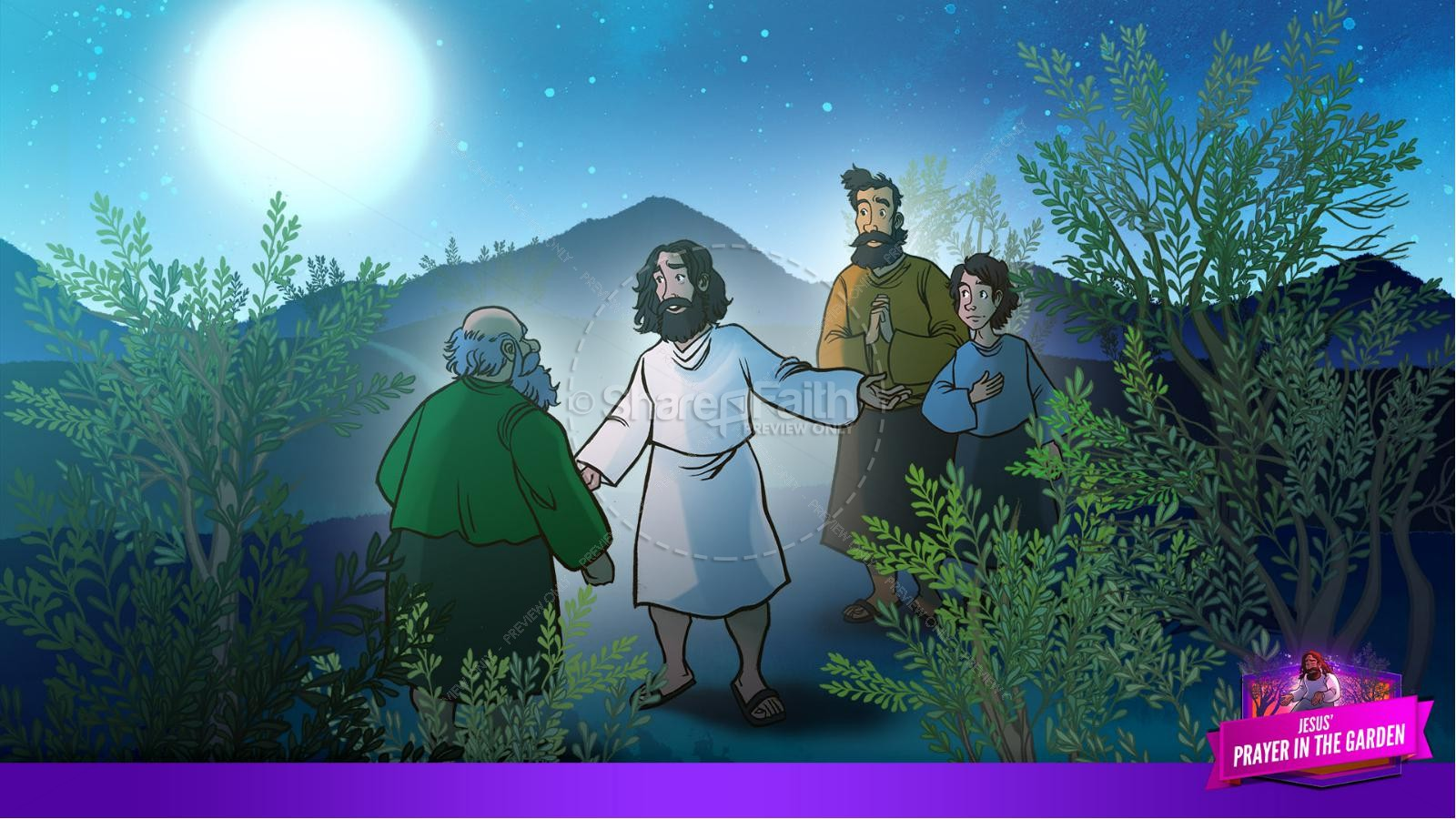 Matthew 26 Prayer in the Garden Kids Bible Story | slide 10