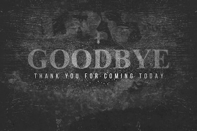 Lent Goodbye Church Motion Graphic