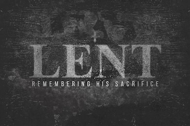 Lent Remembering Church Motion Graphic