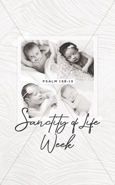 Sanctity of Life Church Bifold Bulletin