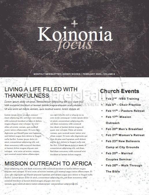 Lent Church Newsletter
