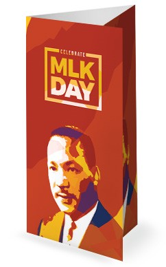 Celebrate MLK Day Church Trifold Bulletin