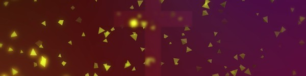 Worship Triangles Glowing Yellow Red Cross Triple Wide