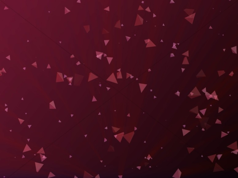 Worship Triangles Maroon Gradient Background