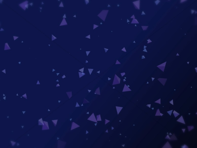 Worship Triangles Indigo Blue Background