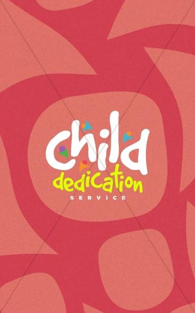 Child Dedication Church Bifold Bulletin