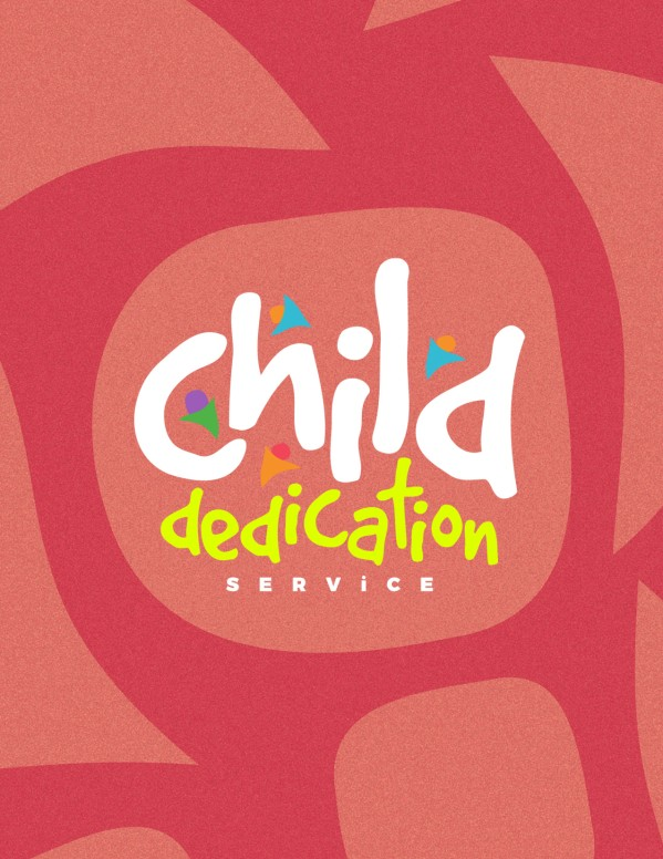 Child Dedication Church Flyer