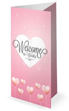 Valentine's Day Church Trifold Bulletin