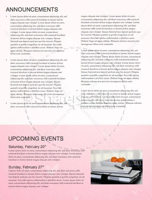Valentine's Day Church Newsletter